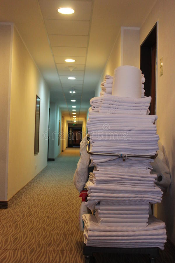 Download Hotel Room Cleaning Trolley Stock Image - Image: 30335833