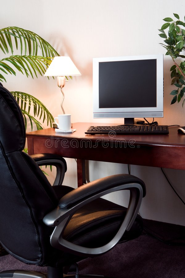 Download Hotel room computer stock photo. Image of telecommuting - 1673072