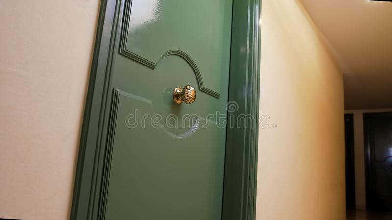 Hotel room door, accommodation rent during vacation travel, hospitality business. Stock photo stock images