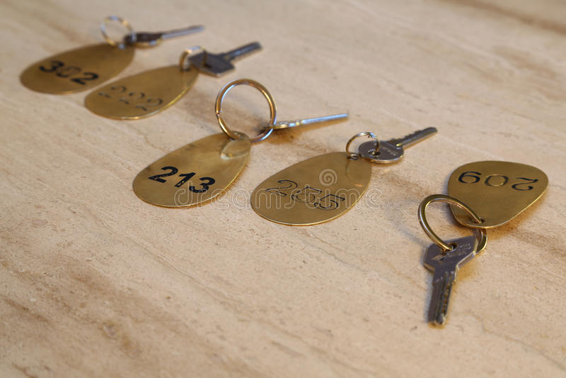 Hotel room key royalty free stock photography