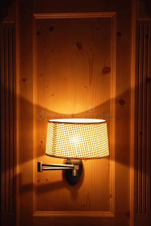 Hotel room - the lamp royalty free stock photography