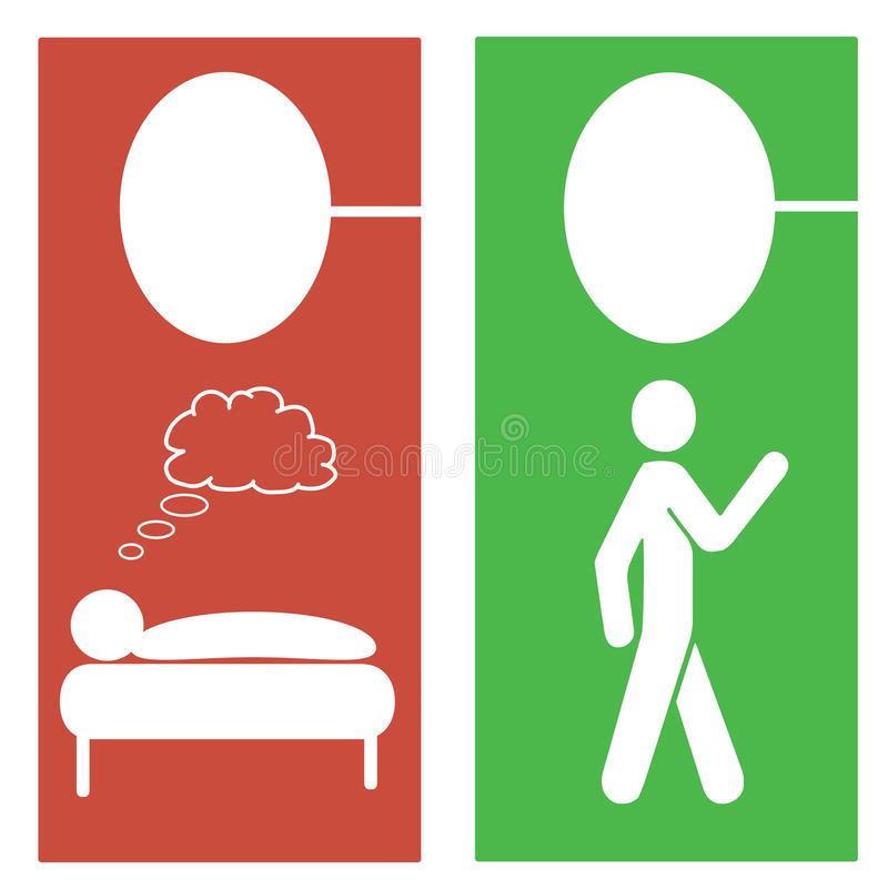Download Hotel room privacy hangers stock illustration. Image of illustration - 14024624