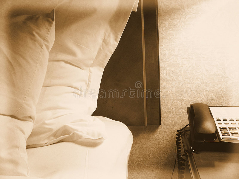 Hotel Room Scene stock photo