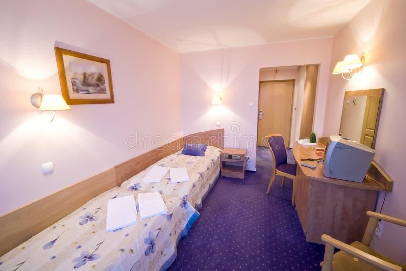 hotel room small στοκ φωτογραφία