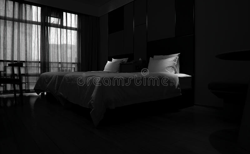 Hotel room with window light royalty free stock image