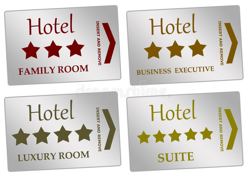 Hotel rooms royalty free illustration