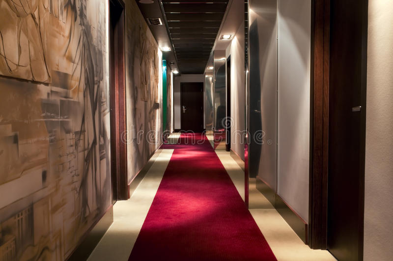 Hotel`s corridor royalty free stock image