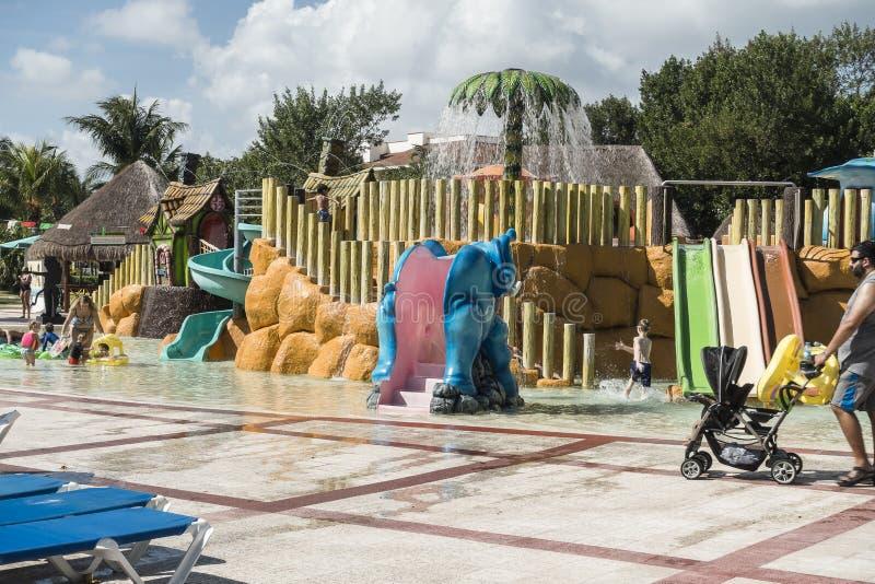 Hotel`s playground royalty free stock photo