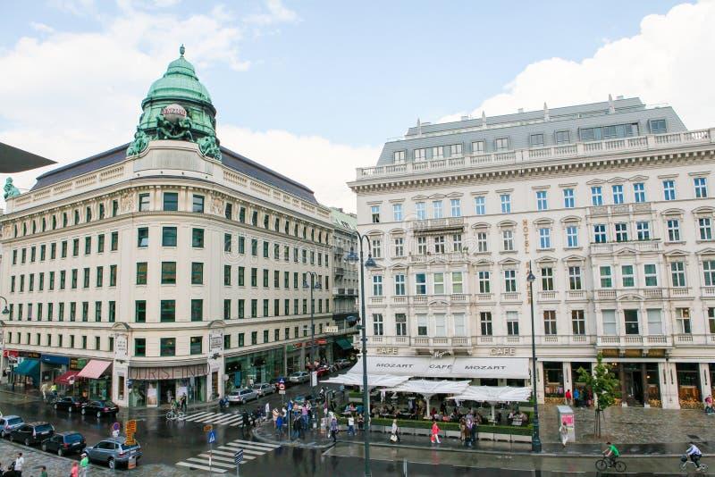 Hotel Sacher y edificio de Generali en Viena, Austria fotos de archivo libres de regalías