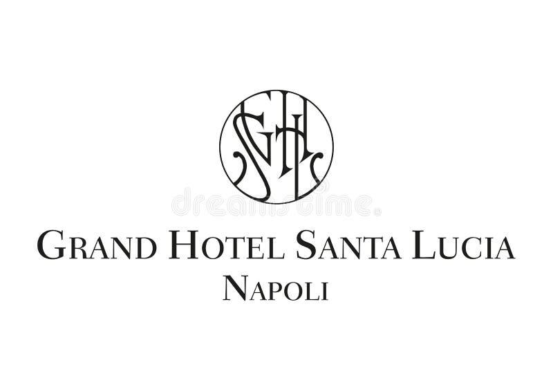 Logo Grand Hotel Santa Lucia vector illustration