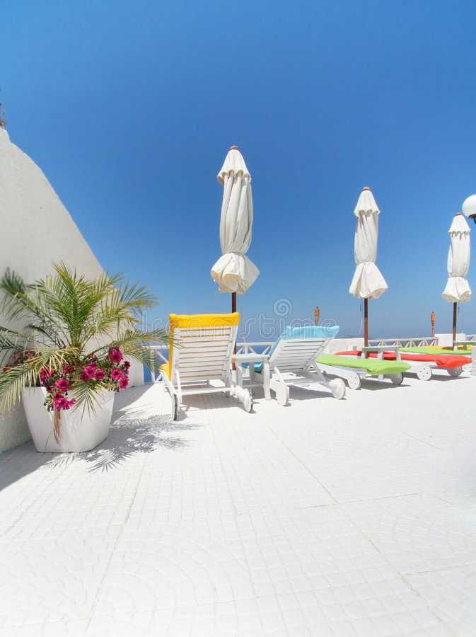 Download Hotel Santorini Royalty Free Stock Images - Image: 6293909