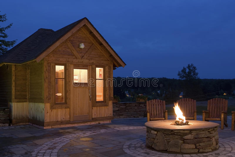 Hotel Sauna royalty free stock photos
