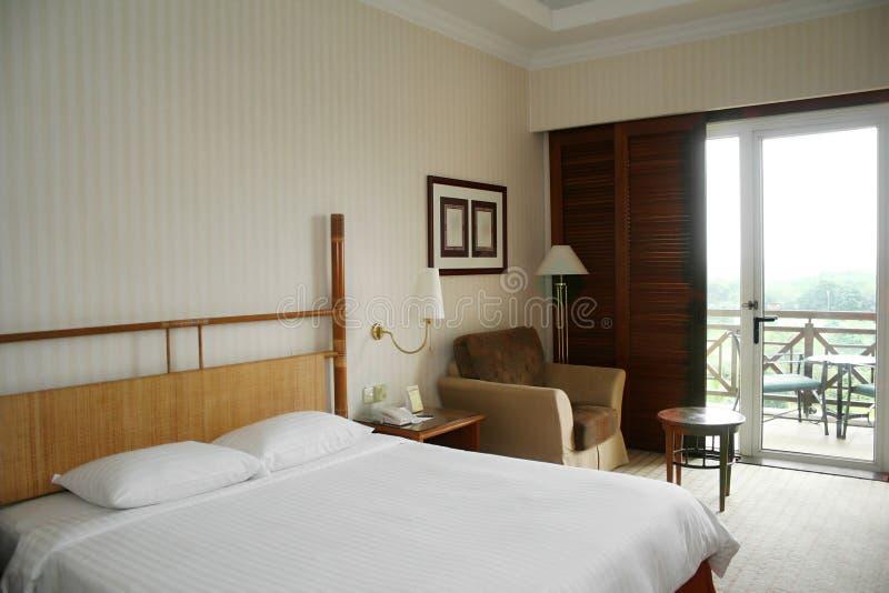 Hotel-Schlafzimmer lizenzfreies stockfoto