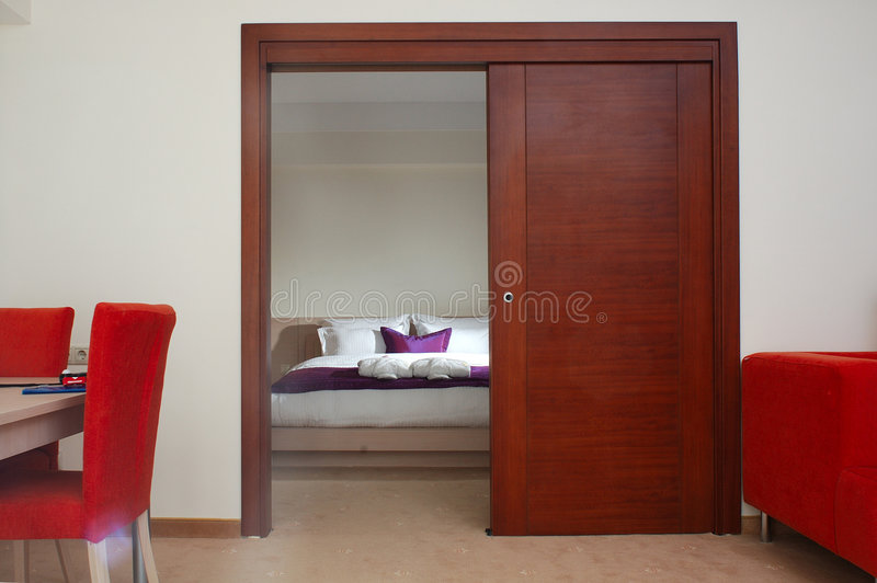 Hotel-Schlafzimmer lizenzfreie stockfotografie