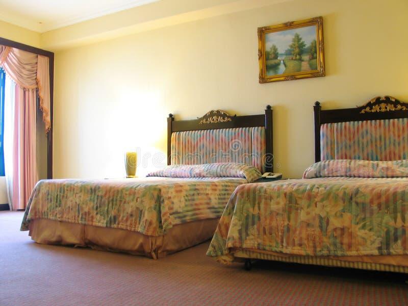Hotel-Schlafzimmer stockfoto