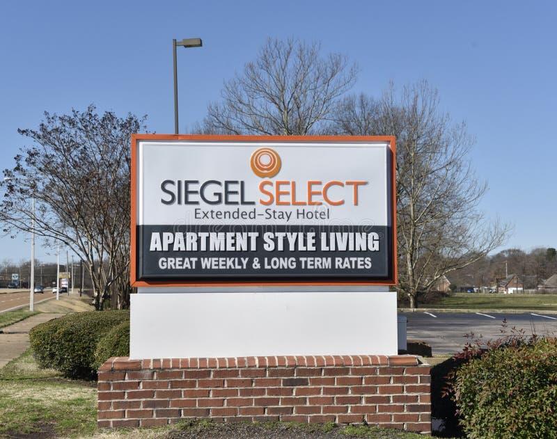 Hotel seleto de Siegel, Memphis, TN fotografia de stock royalty free