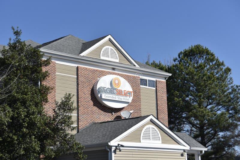 Hotel seleto do estilo do apartamento do hotel de Siegel, Memphis, TN fotos de stock royalty free