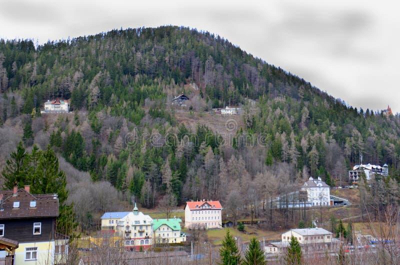 Hotel in Semmering fotografia stock libera da diritti