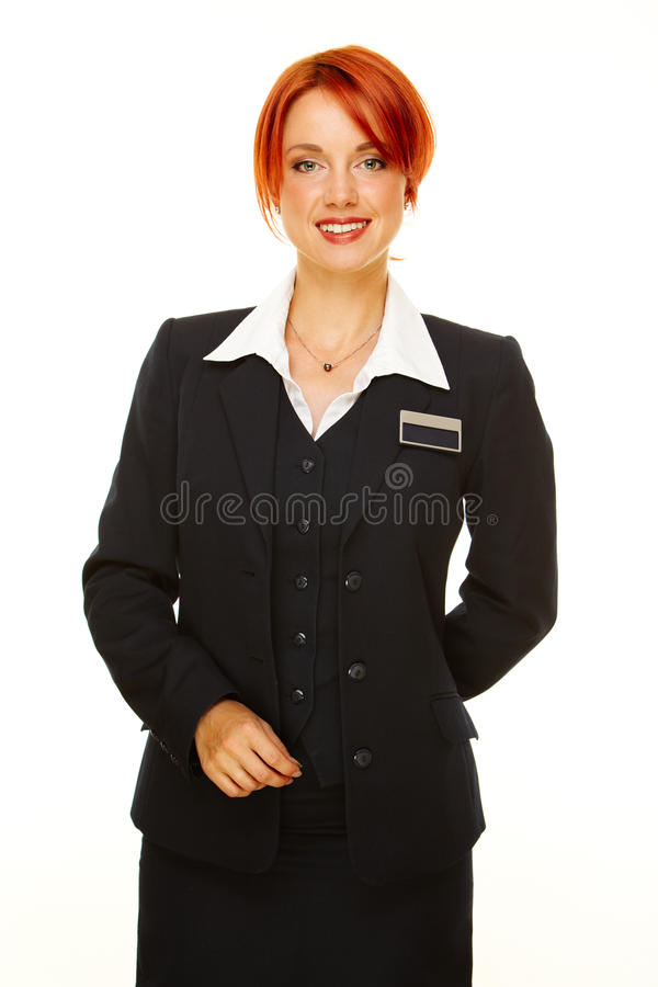 Hotel service people stock photo