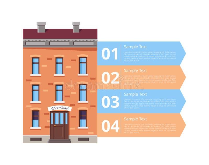 Hotel Services Diagram Icon Vector Illustration stock illustration