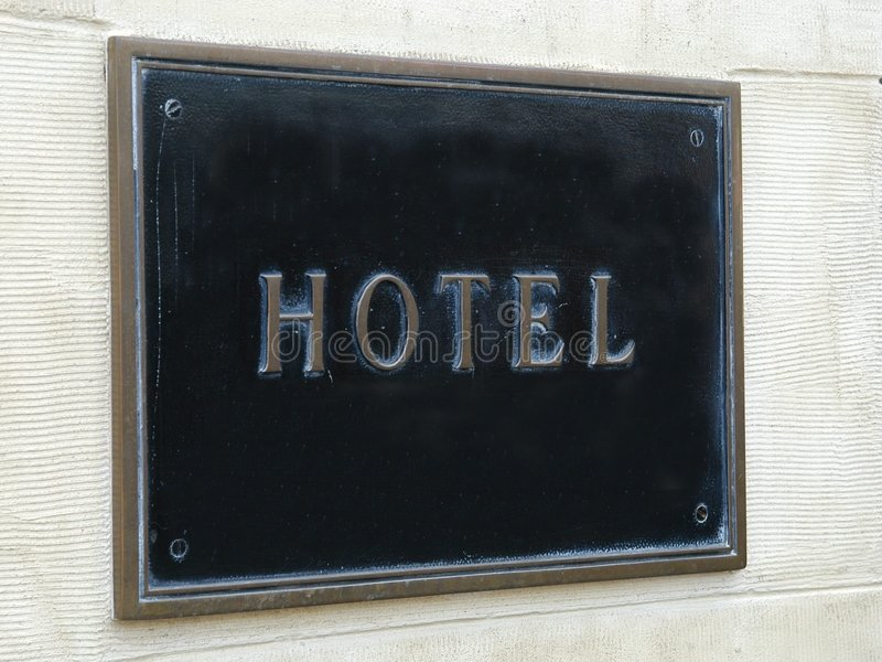 Download Hotel Sign Royalty Free Stock Image - Image: 71716