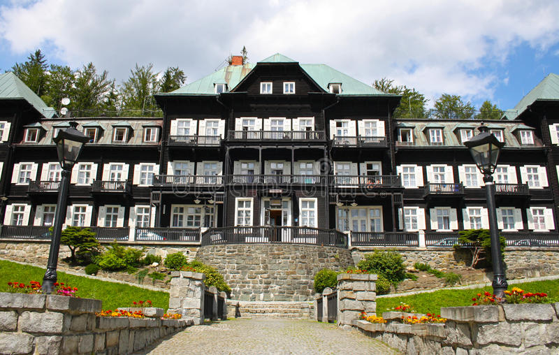 Hotel Silesian house. In Jeseniky royalty free stock photography