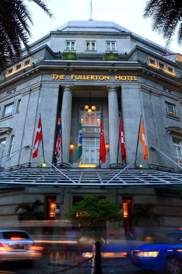 Hotel Singapur de Fullerton fotos de archivo