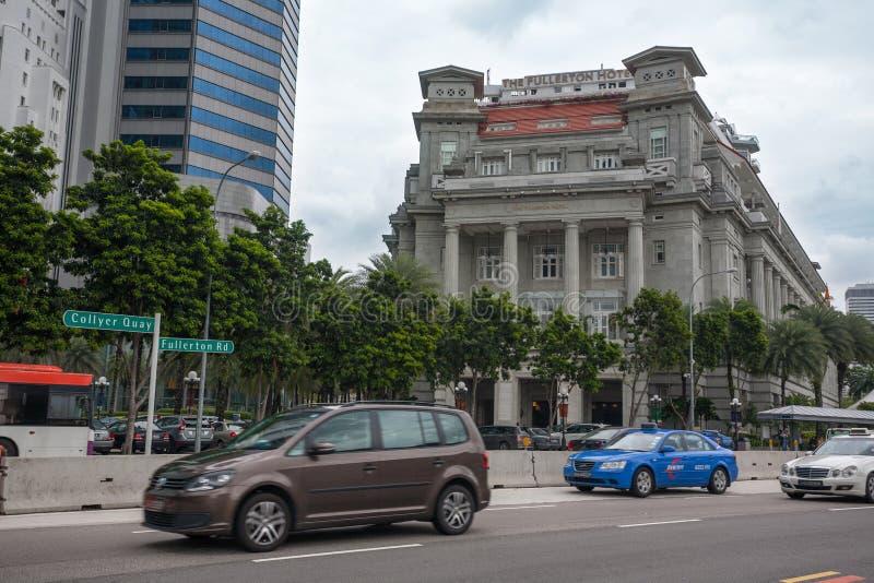 Hotel Singapur de la bahía de Fullerton imagen de archivo