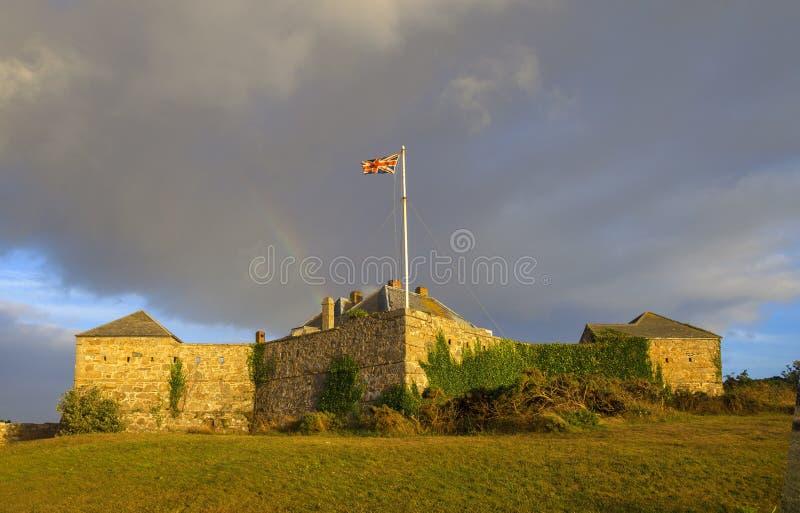 Hotel, St Mary & x27 del castello della stella; s, isole di Scilly, Inghilterra immagine stock