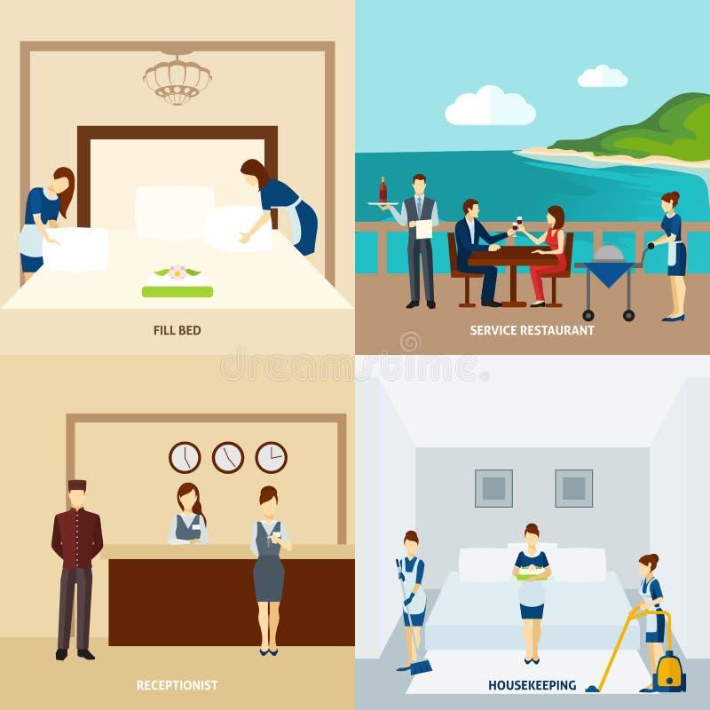 Hotel Staff Flat vector illustration