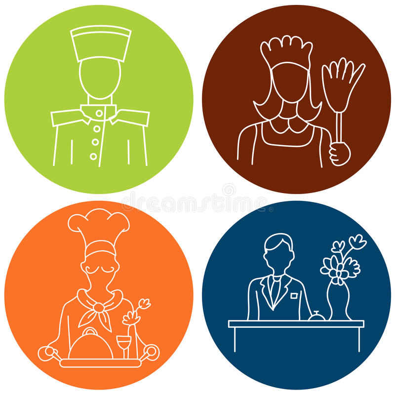 Download Hotel Staff Icons Stock Vector Image Of Manager Isolated