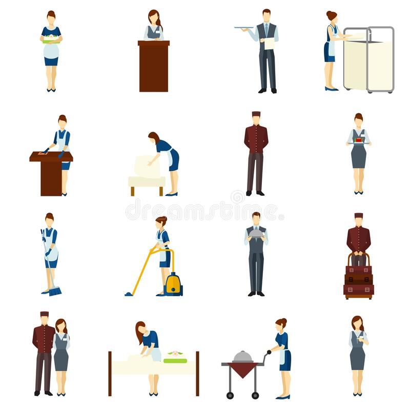 Download Hotel Staff Set Stock Vector Illustration Of Adult Person