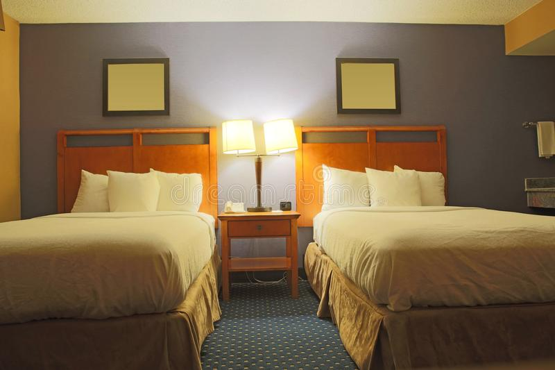 Hotel standard room stock photography