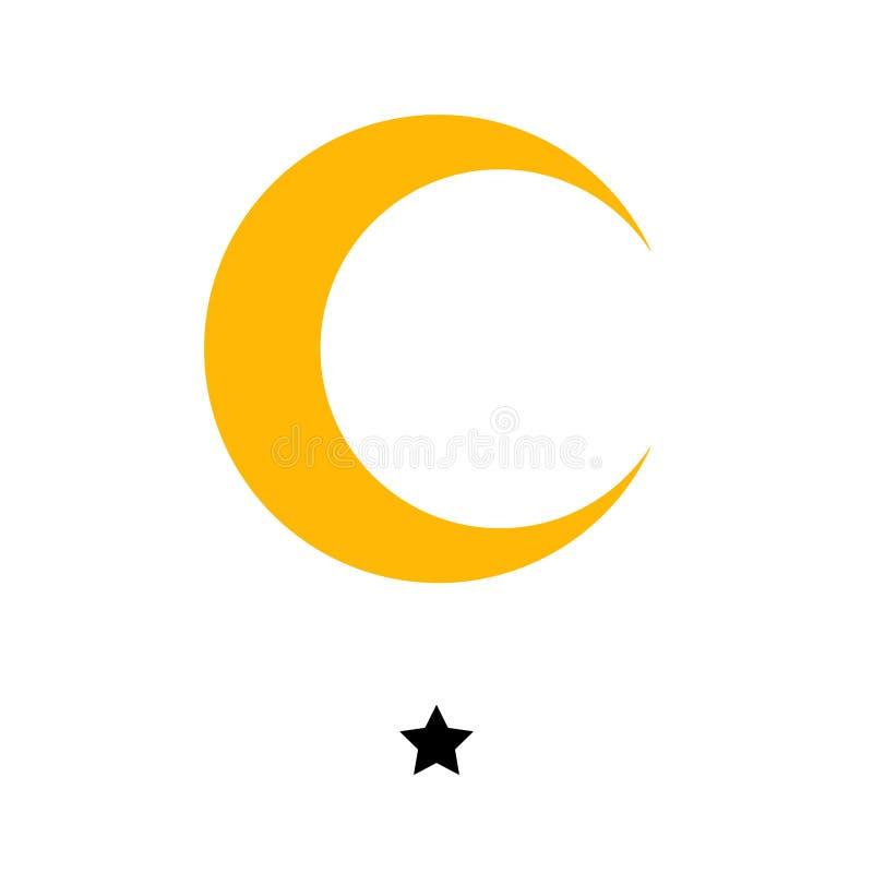 Hotel stars 1 gold vector illustration