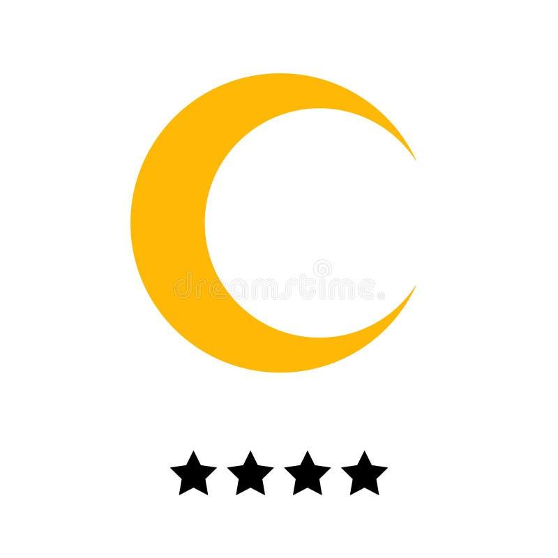 Hotel stars 4 gold vector illustration