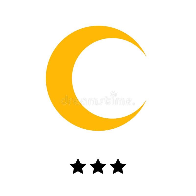 Hotel stars 3 gold vector illustration