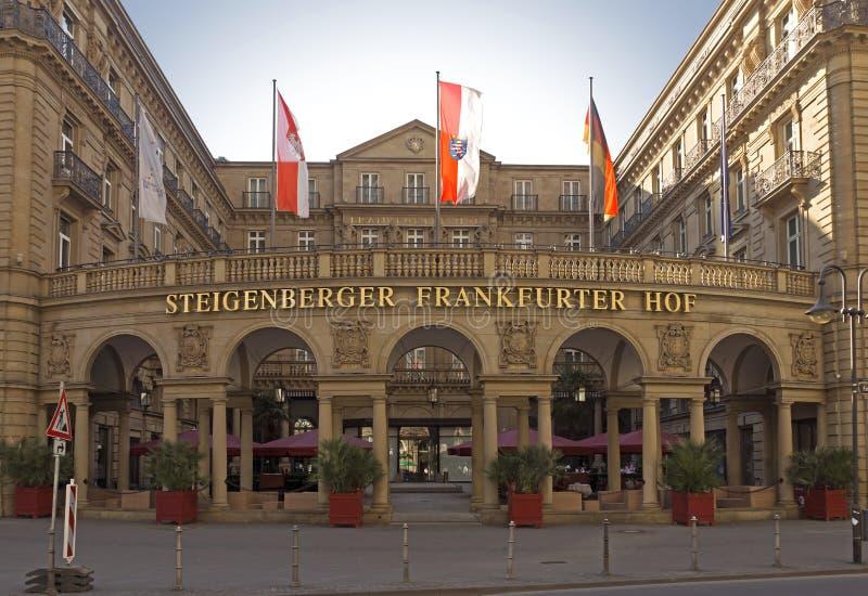 Hotel Steigenberger Frankfurter Hof. FRANKFURT AM MAIN, GERMANY - JULY 2, 2015: View at the Hotel Steigenberger Frankfurter Hof in the downtown district of stock photo