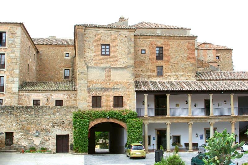Hotel storico di Parador, Oropesa, Spagna fotografia stock