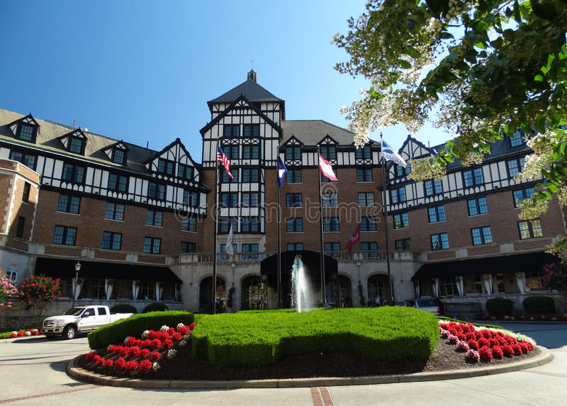 Hotel storico Roanoke e centro congressi fotografie stock