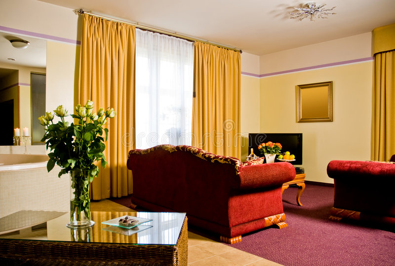 Hotel-Suite stockbild
