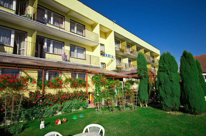 Hotel in summer stock images
