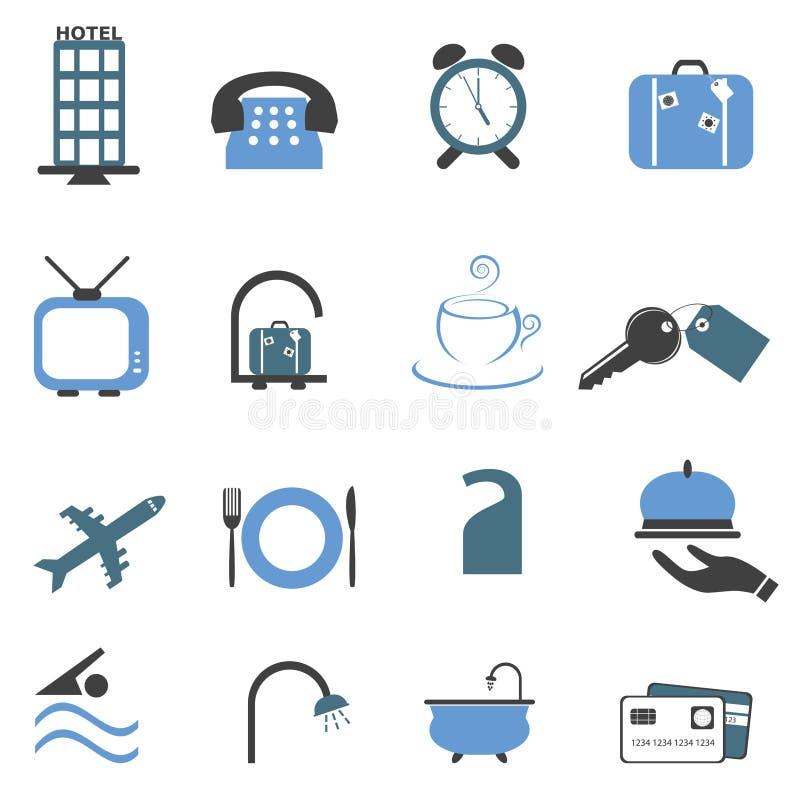 Hotel symbols icon set royalty free illustration