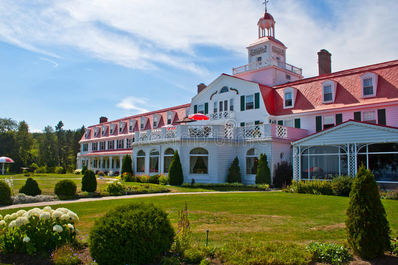 Hotel Tadoussac stock photo