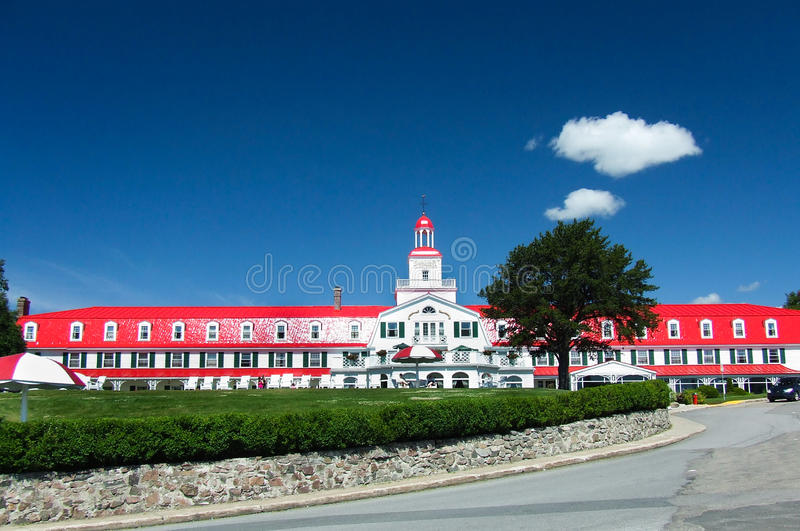 Hotel Tadoussac immagine stock libera da diritti