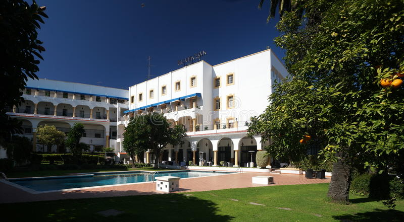 Hotel in Tangier, Morocco. The El Minzah Hotel in Tangier, Morocco, was first opened in 1930. It has hosted some of the worlds most famous people, including royalty free stock photos