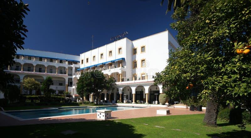 Hotel in Tanier, Marocco fotografie stock libere da diritti