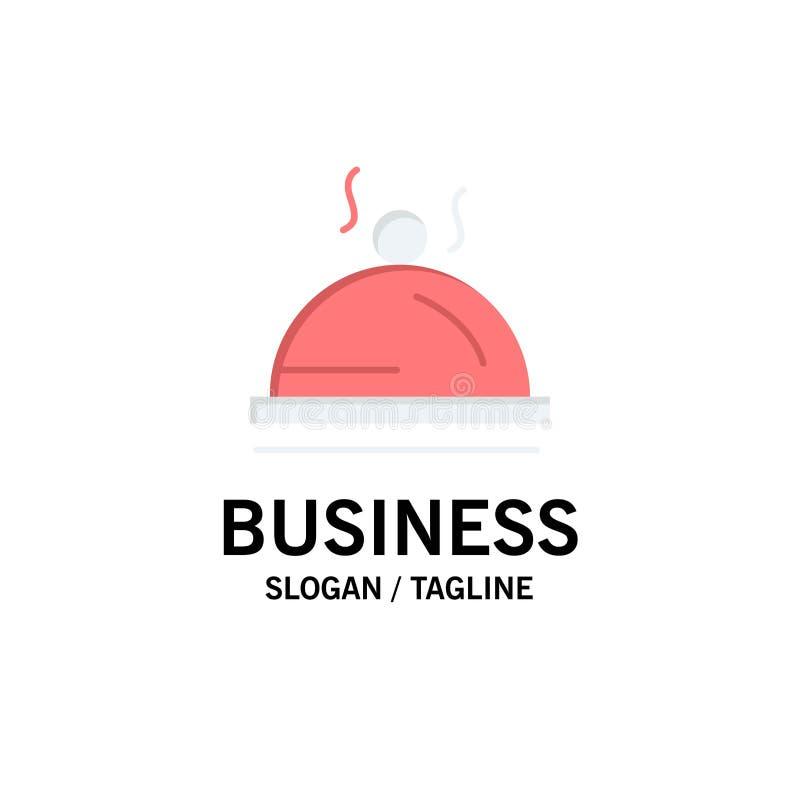 Hotel, Teller, Nahrung, Dienstleistungsunternehmen Logo Template flache Farbe lizenzfreie abbildung