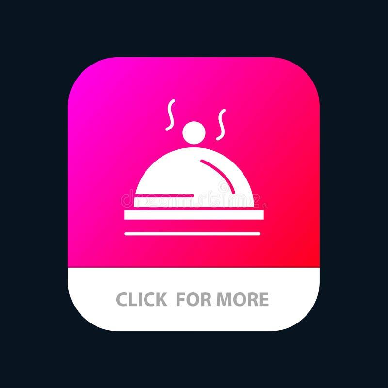 Hotel, Teller, Nahrung, Service beweglicher App-Ikonen-Entwurf stock abbildung