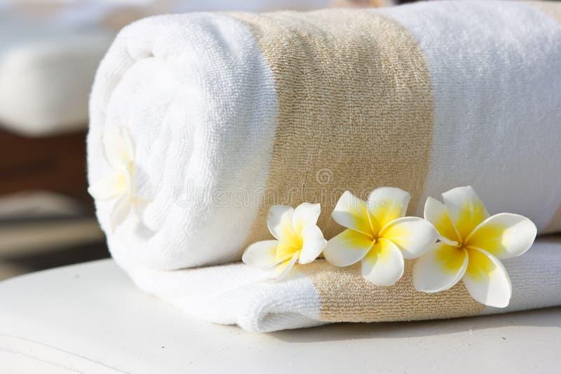 Hotel towel stock image