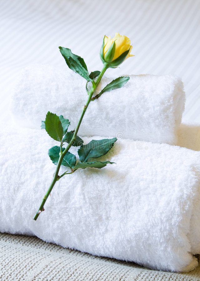 Hotel towel royalty free stock photography